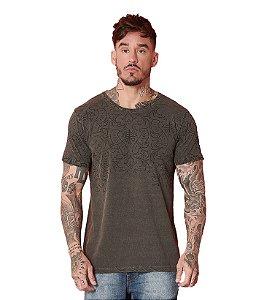 Camiseta Algodão Slim Stonado Arabescos