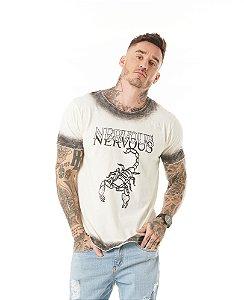 Camiseta Algodão Slim Escorpião Sky Contorno
