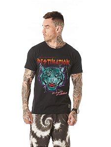 Camiseta Algodão Slim Tigre