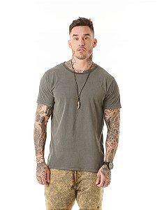 Camiseta Algodão Slim Estonada Listras