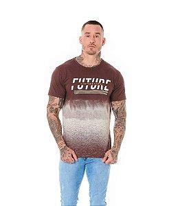 Camiseta Algodão Slim Future is in Your Hands Marrom