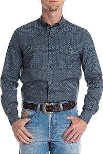Camisa Tassa Estampada - Azul Denim