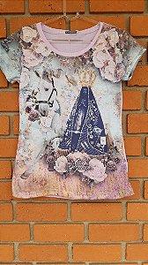 T-Shirt Feminina Nossa Senhora Rosa Starss