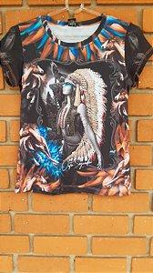 T- Shirt Feminina 8 segundos Strass