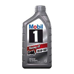 Óleo Mobil 1 100% Sintético Racing 4 Tempos 15W-50 1l