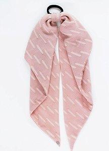 Scrunchie Lenço Camelia - Rosé