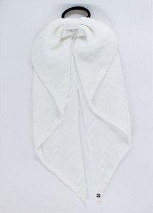 Scrunchie Lenço Camelia - Off White