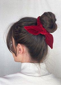 Scrunchie - Velvet Vermelho