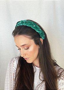 Tiara Isla - Velvet Verde Bordada
