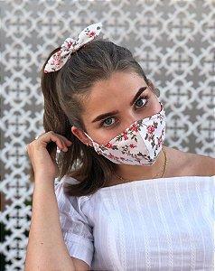 Kit Stay Safe - Máscara + Scrunchie - Floral