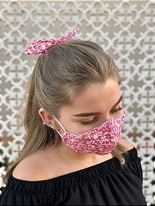 Kit Stay Safe - Máscara + Scrunchie - Arabesco