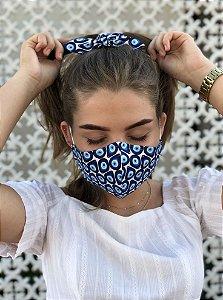 Kit Stay Safe - Máscara + Scrunchie - Olho Grego