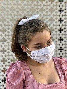 Kit Stay Safe - Máscara + Scrunchie - Laise Branca