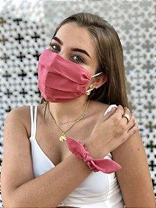 Kit Stay Safe - Máscara + Scrunchie - Rosê