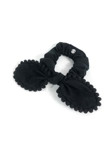 Scrunchie Pompom - Black