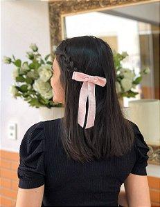 Laço Bella - Velvet Rosa Claro