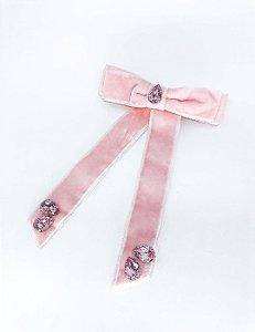 Laço Bella Diamond - Velvet Rosa Claro II