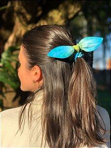 Scrunchie Tie Dye - Blue Lemonade