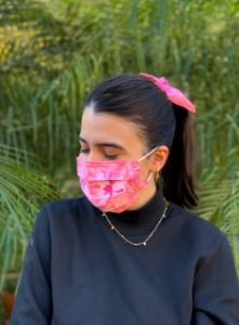 Kit Tie Dye - Máscara + Scrunchie - Pink Lemonade - Pregas