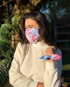 Kit Tie Dye - Máscara + Scrunchie - Galaxy - Pregas