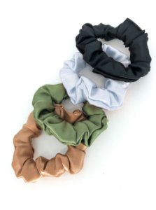 Combo Scrunchies Olivia - Satin Neutrals