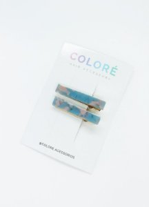 Dupla Mini Presilhas Acrílico - Azul