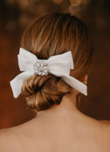 Laço Bride Grace Kelly - Broche Prata
