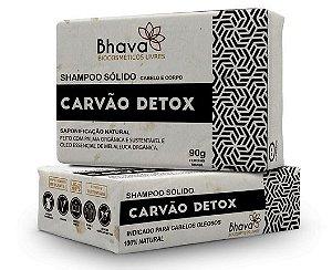 Shampoo Sólido Detox 100% Natural 90 g - Cabelos Oleosos - Linha LIXO ZERO - Bhava