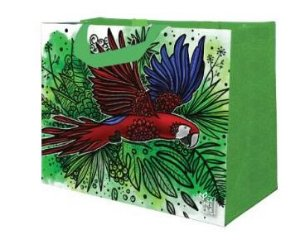 Ecobag de Ráfia MINI - Coleção Artistas do Brasil by @Danroots Verde - Sacola Reutilizável - CáPraLá