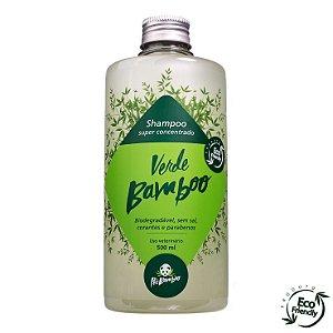 Shampoo Verde Bamboo Biodegradável para Cães e Gatos 500 ml
