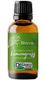 Óleo Essencial de Lemongrass Orgânico 10 ml