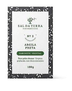 Sabonete Vegetal Argila Preta 100 g