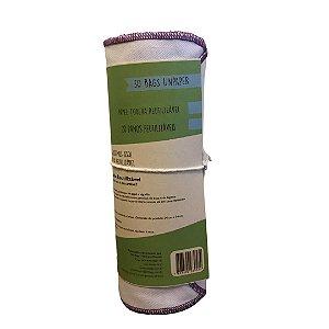 Papel Toalha Reutilizável Liso 100% Algodão - Durável e Lavável - So Bags