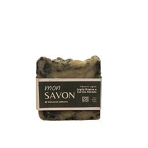 Sabonete Vegetal de Argila Branca e Carvão Ativado 100 g