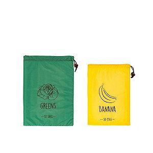 Kit So Bags GREENS FOLHAS + So bags BANANA