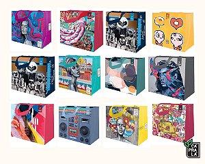 LEVE 5, PAGUE 4 - Ecobags de Ráfia Coleções Artistas do Brasil e Cidades - Sacola Reutilizável - ESTAMPAS SORTIDAS - CáPraLá