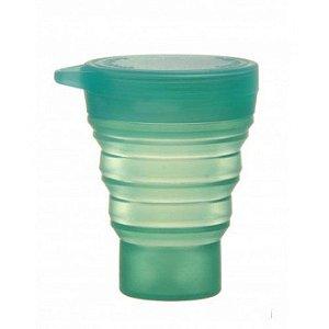 Copo Retrátil de Silicone Menos 1 Lixo - Nova Linha - Quartzo Verde