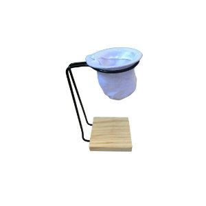 Mini Coador de Pano para Café com Suporte de Madeira
