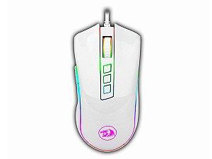 Mouse Gamer RGB Redragon Cobra M711W  10000 DPI 8 Botões Branco