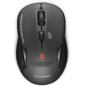 Mouse Sem Fio Bluetooth Multilaser MO254 1600 Dpi 4 Botões