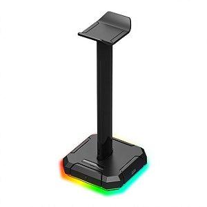 Suporte de Headset Redragon Scepter PRO HA300 RGB com 10 Modos de Iluminação