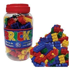 Bricks Blocos Montagem 100 PEÇAS - Pais e filhos