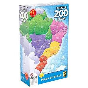 Puzzle 200 peças Mapa do Brasil - Grow