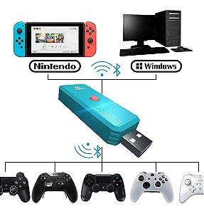 Adaptador Coov N100 Plus Bluetooth P/ Nintendo Switch E Pc