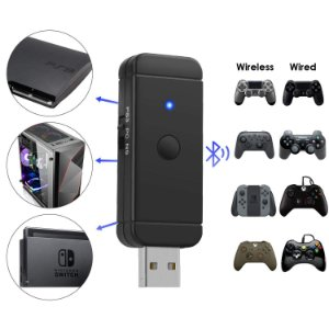 Adaptador Jys Bluetooth Wireless P/ Nintendo Switch PC PS3 Raspberry Pi