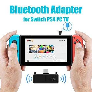Adaptador Fone Bluetooth 5.0 SW01 P/ Nintendo Switch Ps4 Pc