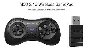 Controle 8bitdo M30 2.4g P/ Mega Drive Mini Genesis E Switch Pc