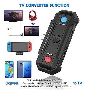 Adaptador Conversor JYS Bluetooth Audio Video P/ Nintendo Switch Pc