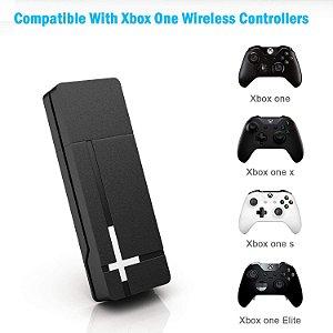 Adaptador Usb Sem Fio P/ Controle Xbox One S / X Wireless Pc Windows 7 8 10