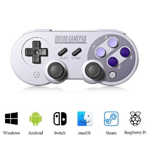 Controle 8bitdo Sn30 Sf30 Pro Bluetooth P/ Nintendo Switch Android MacOS Raspberry Pi Pc